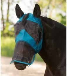 Maska proti hmyzu prodloužená bez uši petrolejová
