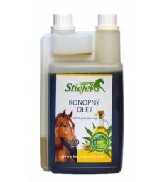 Konopný olej lisovaný za studena 1l